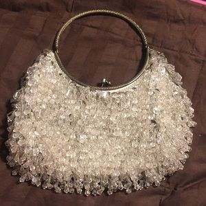 Vintage silver Hong Kong bead/sequin purse